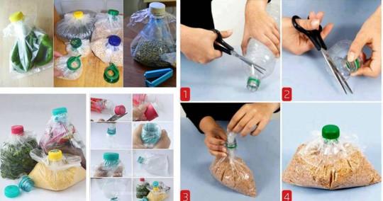 Voici comment sceller un sac de plastique en recyclant une bouteille de plastique!
