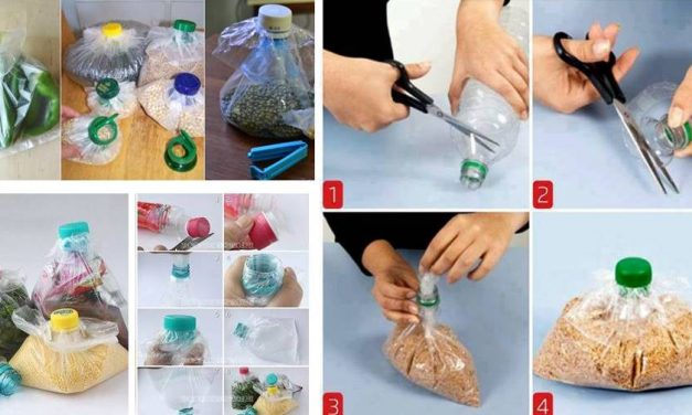 Voici comment sceller un sac de plastique en réutilisant une bouteille!