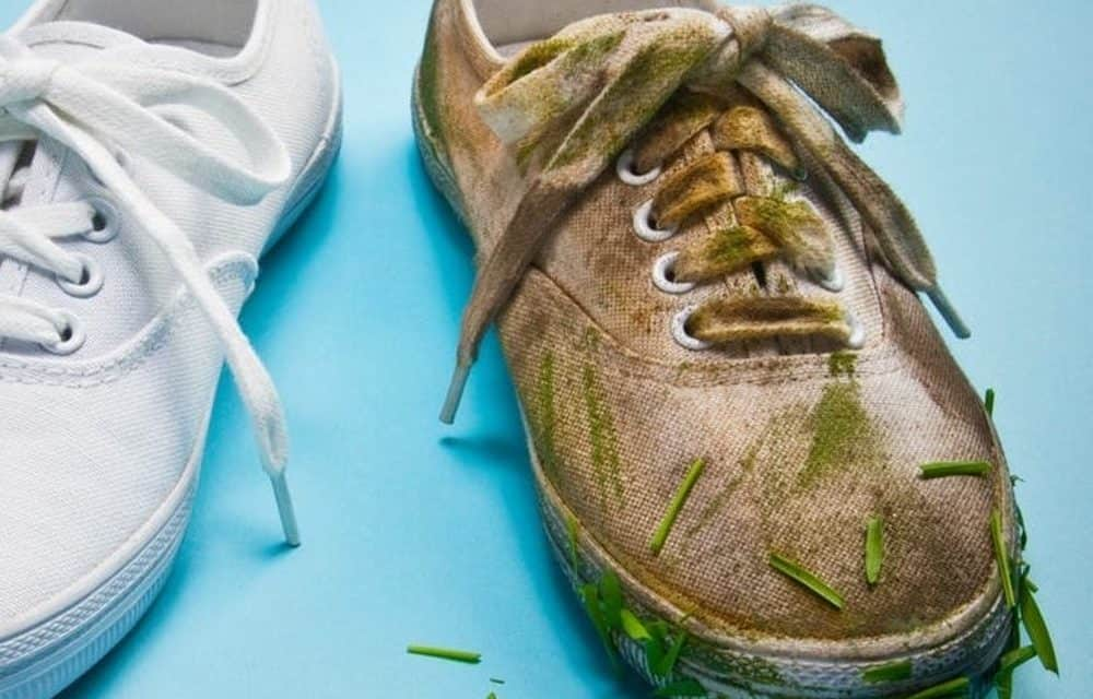 Comment laver les souliers blancs