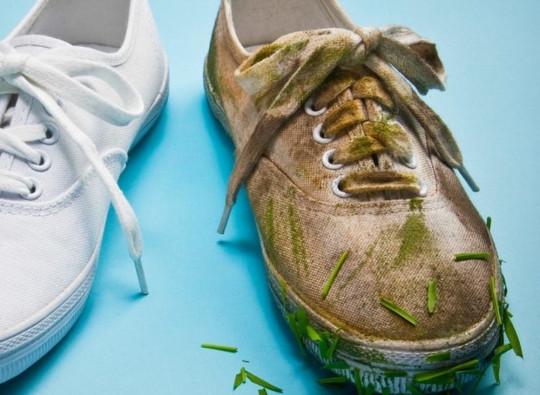 Le meilleur truc pour laver des souliers blancs!