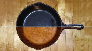 Le meilleur truc pour culotter sa casserole en fonte facilement!