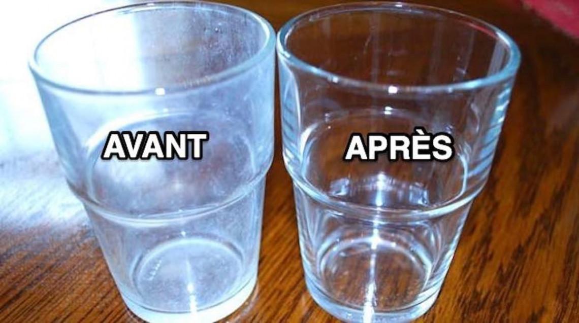 Truc facile pour enlever des taches d'eau dure (3 ingrédients seulement!)