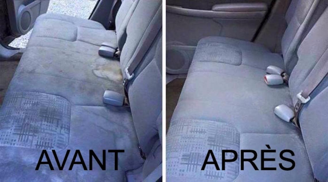 Nettoyez les taches sur le banc de votre voiture avec ces 3 ingrédients!