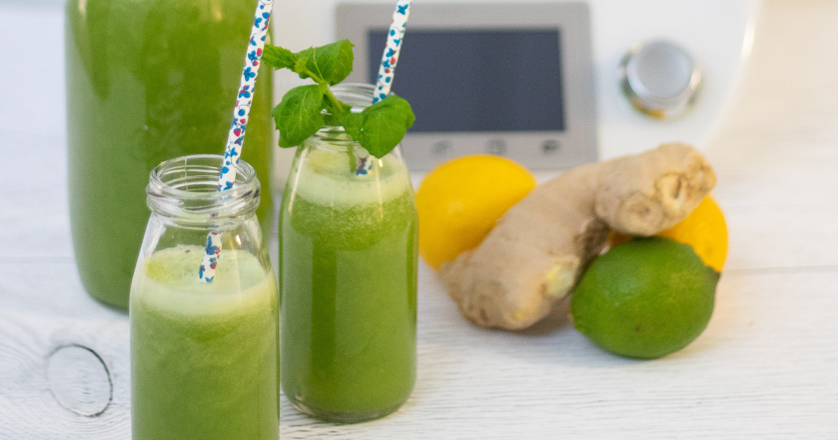 Jus vert détoxifiant à boire avant de se coucher (idéal avant l'hiver!)