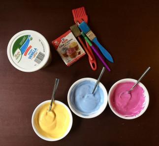 Peinture maison comestible pour les petits avec 2 ingrédients seulement!