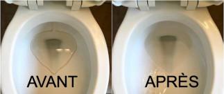 Comment nettoyer les taches d'eau dure sur la porcelaine de la toilette