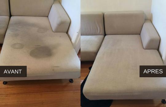 Ce truc est simplement miraculeux pour nettoyer un divan en tissu!